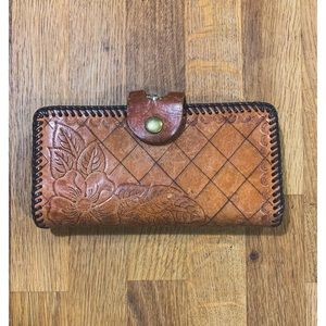 Vintage 60's Hand Tooled Leather Wallet